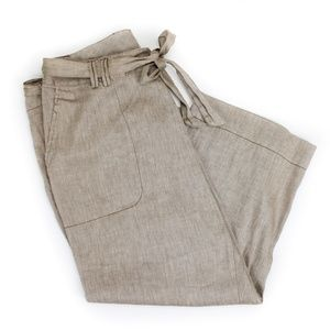 Coldwater Creek Neutral Brown Linen Pant 14 *A